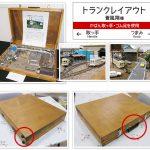 自作の木製鞄【鉄道模型のトランクレイアウト】に使用しました(蒼風翔様)