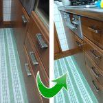 台所の流し台の扉の取っ手が古くなったので購入しました(森のクマさん様)