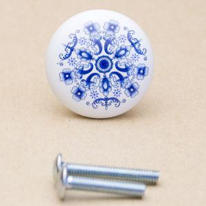WAKI セラミックつまみ TW-151〈青い花〉 M