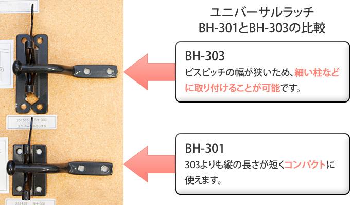 BH-301と303の違い